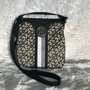 Tommy Hilfiger navy and gray crossbody bag